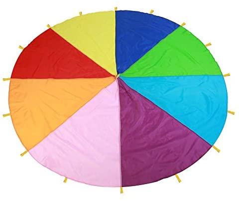 I Bambini Giocano Multi-Color Arcobaleno Paracadute per Bambini Gioco...