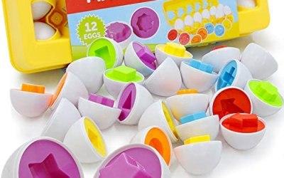 Set di 12 Uova da Abbinare Gioco Bambini e Bimbi Educativo Piccoli per…