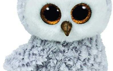 TYTY37086 Beanie Boo's– Peluche di Owlette Il Gufo, 23 cm