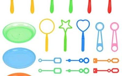CENBEN 26pcs Kids Soap Bubble Kit Kids Soap Bubble Sticks Bolle di Sapone…