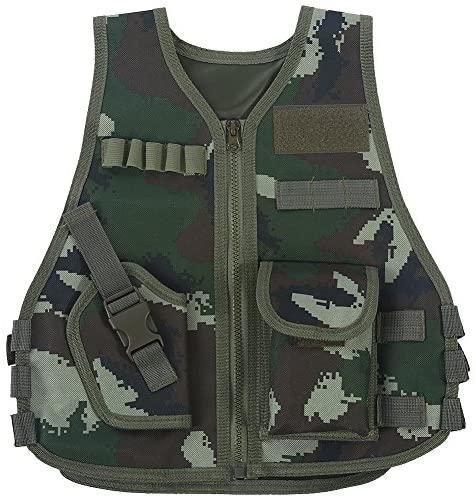 Gilet tattico Militare, Gilet Mimetico per Bambini con Tasca Multipla per...