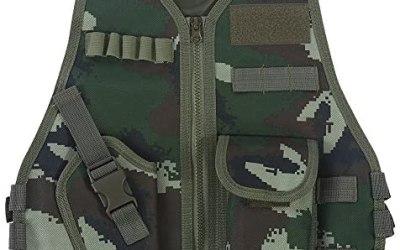 Gilet tattico Militare, Gilet Mimetico per Bambini con Tasca Multipla per…