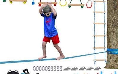 Vanku Ninja Slackline per Bambini e Allenamento all'Aperto, Lunghezza da…