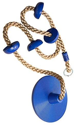 Altalena rampicante, corda da arrampicata con supporto per piede e disco...