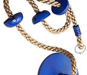 Altalena rampicante, corda da arrampicata con supporto per piede e disco…