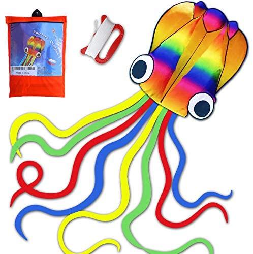 HONBO Grande aquilone Octopus con aquilone singolo, grande Easy Flyer...