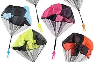 JZK 6 x Giocattolo Paracadute per Bambini Lancio della Mano Lancia Soldati…