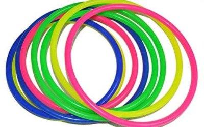 STOBOK – Set di 12 anelli da gioco per bambini, in plastica, per la…