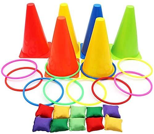 Set 3 in 1 di Carnevale, coni di plastica morbida, pouf per giochi di...