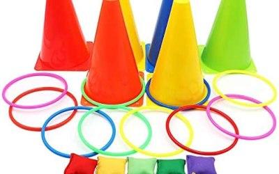 Set 3 in 1 di Carnevale, coni di plastica morbida, pouf per giochi di…