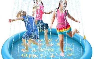 BOIROS Tappetino Gioco d'Acqua per Bambini Splash Play Mat Sprinkler Pad…