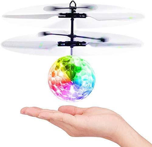 Baztoy Giocattoli Palla Volante, Mini drone per Bambini Luci Led Elicottero...