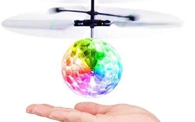 Baztoy Giocattoli Palla Volante, Mini drone per Bambini Luci Led Elicottero…