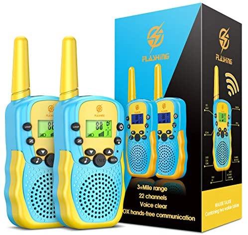 Dreamingbox Walkie Talkie Bambini, 8 Canali Ricetrasmittenti 2 Way Radio,...