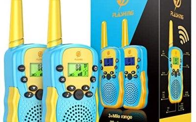 Dreamingbox Walkie Talkie Bambini, 8 Canali Ricetrasmittenti 2 Way Radio,…