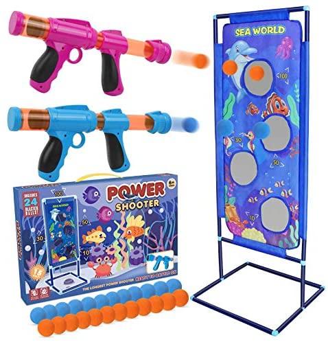 STOTOY Shooting Game Set, Gioco di Tiro per Bambini con 2 Palle di Schiuma...