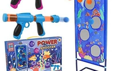 STOTOY Shooting Game Set, Gioco di Tiro per Bambini con 2 Palle di Schiuma…