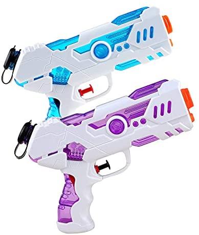 Yojoloin Pistole ad Acqua Giocattolo,2 Pack Pistola d'acqua Lunga Gittat...