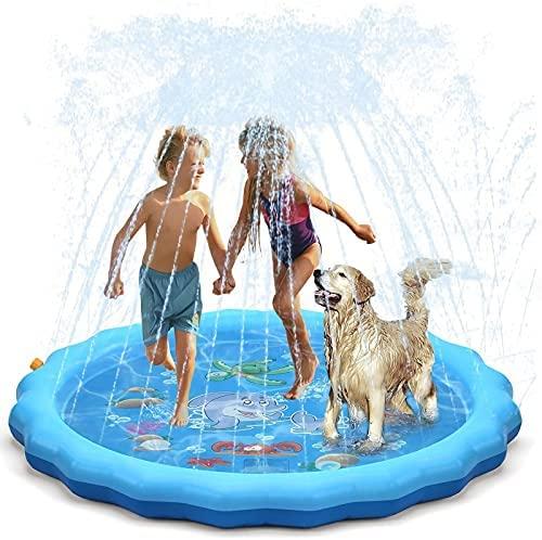 WolinTek Tappetino Gioco d'Acqua per Bambini, 170cm Splash Play Mat,...