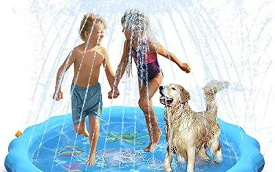 WolinTek Tappetino Gioco d'Acqua per Bambini, 170cm Splash Play Mat,…