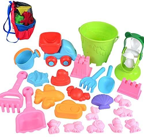 Aischens Giocattoli da Spiaggia per Bambini, 24pcs Giocattoli di Sabbia con...
