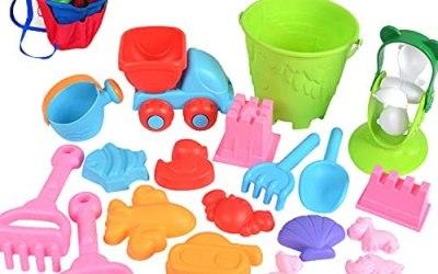 Aischens Giocattoli da Spiaggia per Bambini, 24pcs Giocattoli di Sabbia con…