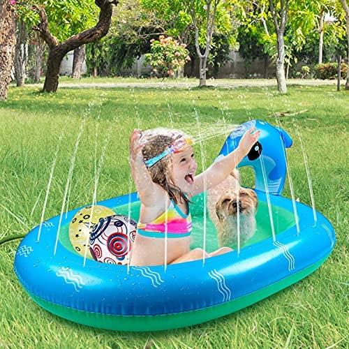 Gemeer Tappetino Gioco d'Acqua per Bambini, Splash Play Mat all'Aperto...