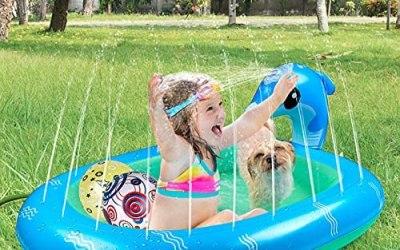 Gemeer Tappetino Gioco d'Acqua per Bambini, Splash Play Mat all'Aperto…