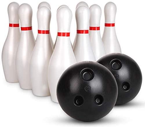 POHOVE Set da bowling per bambini, 12 pezzi, con 10 spille bianche...