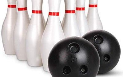 POHOVE Set da bowling per bambini, 12 pezzi, con 10 spille bianche…