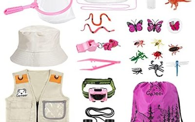 Gemeer Kit Esploratore Esterno (Rosa), Kit Cattura Insetti da 26 Pezzi, Kit…