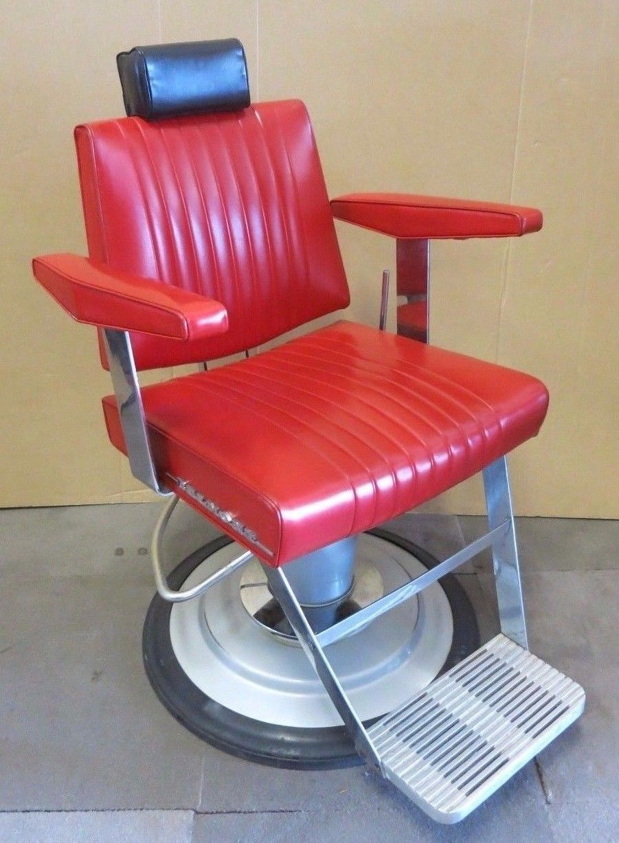 Red Barber Chair Belmont Takara Dainty Red Upholstered Reclining Adjustable Barberchair