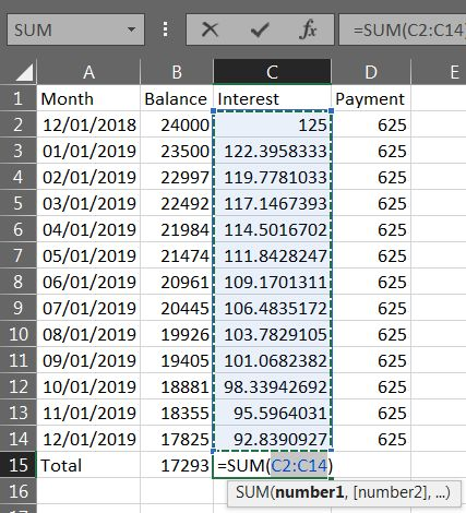 Excel Loan Payment 06