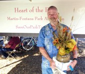Winner of dried flower arrangement