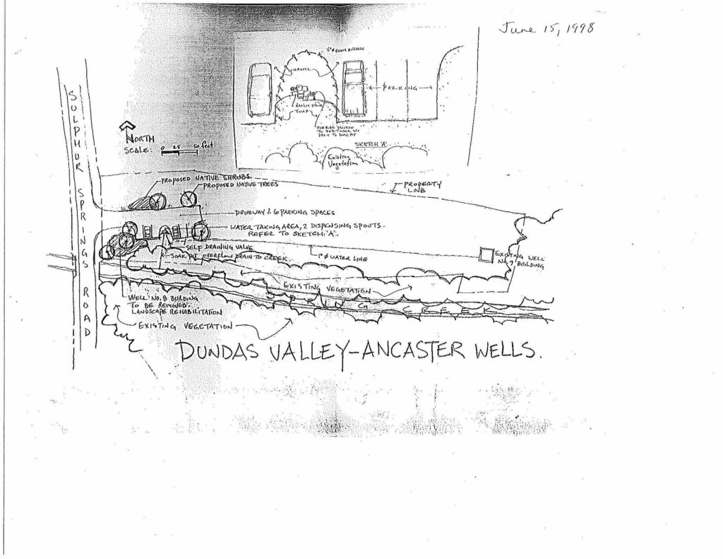 hight resolution of ancaster well site development plan to include commercial water taking june 15 1998