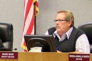 Deputy Mayor Mark Muir at the April 16, 2014, Encinitas City Council meeting.