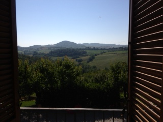 We'll miss the view from our room in Montepulciano