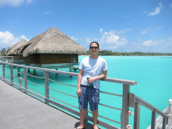 The blues of Bora Bora's water is something I've never seen before