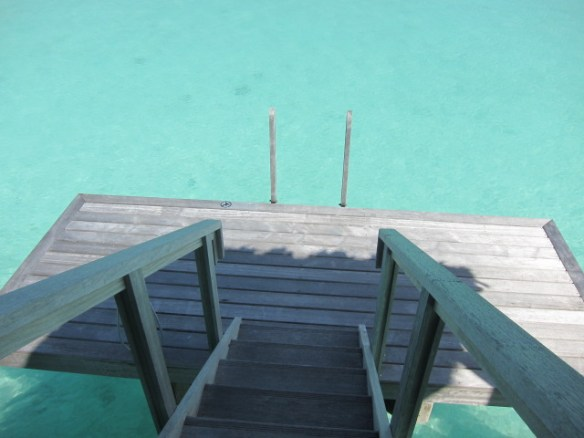 Stairs leading down to the dock