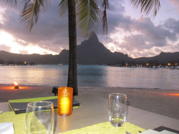 View from our table at Le Sands