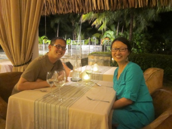 Dinner at Reef Restaurant on our last night