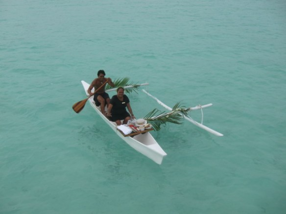 Getting your breakfast delivered on a canoe costs twice as much for some reason