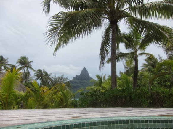 View from the jacuzzi at Intercontinental Thalasso's Deep Ocean Spa