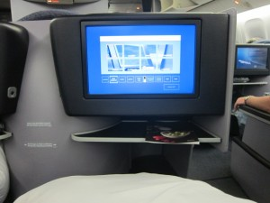 In flight entertainment United Business First