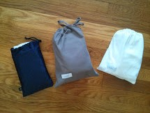 Voila. Amenity kits => diaper bags!