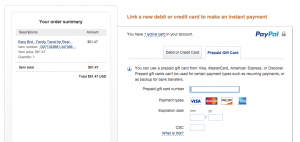 Adding a prepaid card to Paypal seems pretty straightforward - how did I never see this before?