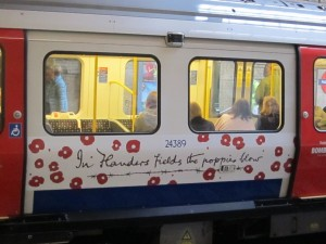 Our trip into London to see the poppies was way easier thanks to our chip and pin card