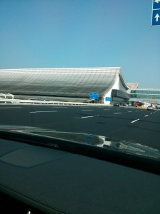 Quick shot from the car of Terminal 1