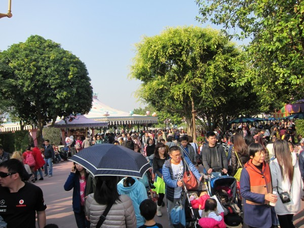 Fantasyland filled up very quickly after lunch