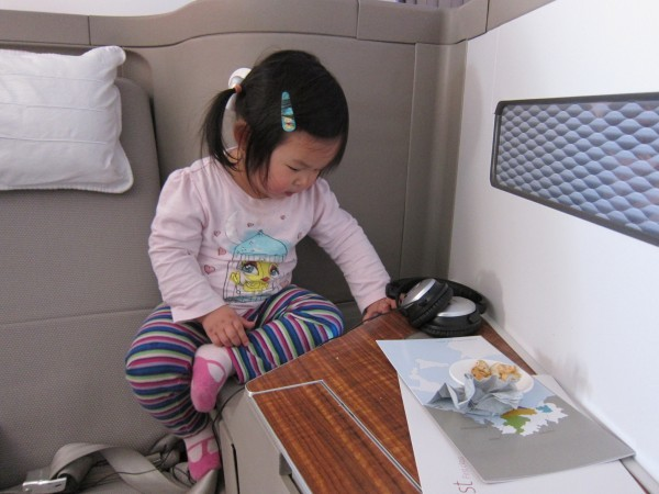 Cathay Pacific First Class with a toddler